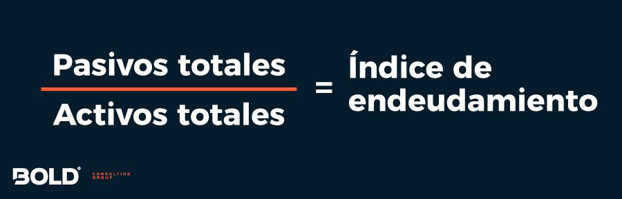 Fórmula para calcular el índice de endeudamiento general