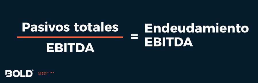 Fórmula para calcular el endeudamiento con relación al EBITDA
